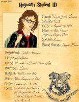 Hogwarts Student ID by psycobabble402