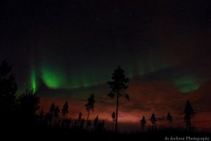 Autumnal Northern Lights, Northern Finland by Britwitch-1981