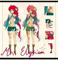 Adoptable: Tattooed Rose Auction [CLOSED] by MissElysium