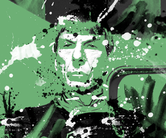 Spock Welcome Splatter by Richard67915