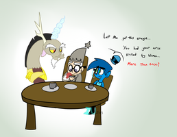 Tea Party With Discord by MochiFries