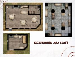 Kickstarter: Map Flats Project Sample by Araknophobia
