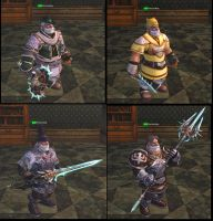 Lineage 2 - Icarus Weapons by Brownfinger