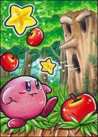 ACEO - Kirby vs Whispy by Lumary92