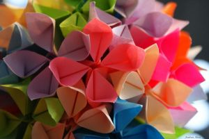 Colorful Origami by Hesthea