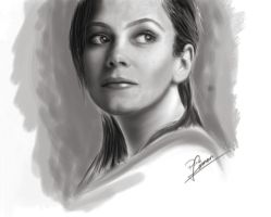 anna friel sketch by P-F-Finnan