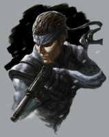 Solid Snake: !SPOTTED! by HarryOsborn-Art