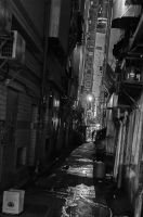 Dark alleys of Hong Kong by kmetjurec