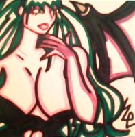 Morrigan Gets Worked Up Post-It by dark-es-will