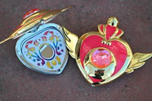 Sailor Moon Super S Crises Heart Compact Brooch by StarlightStudioProps