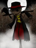 NecroMasters Card Art - Scarecrow by PlayboyVampire