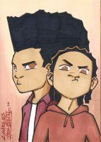 The Boondocks sketch card by KidNotorious