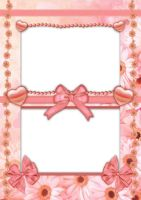 Pretty Peach Design Frame PSD by Anavrin2010