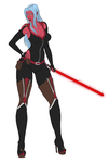 Nova of the Zeltron Sith by RoseDragonfire