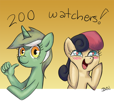 200 Watchers! by B0nBon