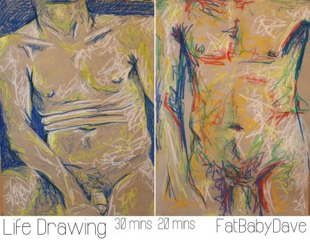 Life Drawing - Male by FatBabyDave