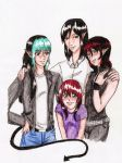 Milthran family colored by chibi-jake-angel