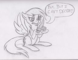 Derpy Can't Decide by Utahraptorz-Poniez