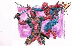 Spider Man vs Deadpool05232013 0000 by skeel76