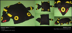 Umbreon pillow by Neon-Juma