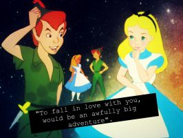 Peter pan and Alice by retrochick80