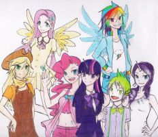 My Little Pony : The Main Characters by pimlak1234