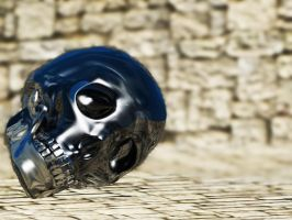 Blender 3d Skull Glass SSS by Jimmyon