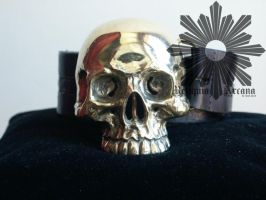 My skull buckle made of brass by ReliquiaArcana