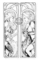 Lady Death Zodiac Gemini lines by ToolKitten