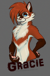 Gracie badge by FourDirtyPaws