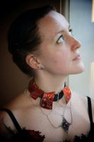 Enameled collar necklace by timjo