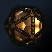 Icosahedral container of fractal enlightenment by MANDELWERK