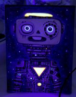 First Robot Painting, Black light by Rathur-net