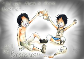 One Piece -- Brothers by Spilled-Sunlight