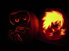 Anime Pumpkins by Leon-Kastello