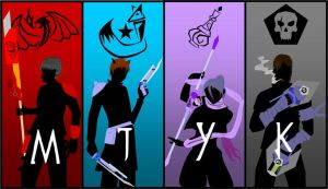 Team MJYK Silhouettes by Neonight92