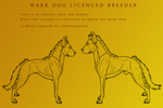 Warr Dog Breeding Licence by lighteningfox