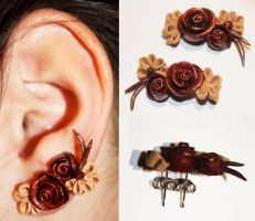 .: Double Piercing Earrings :. by tanya1