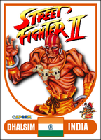 Dhalsim - Street Fighter 2 Retro Card by MrABBrown