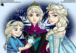 3 Elsas By Berelince Colored by StarDragon77