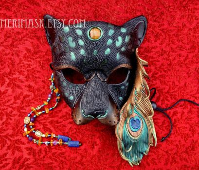Peacock Leopard Mask #2 by merimask