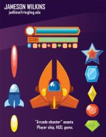 Arcade Shooter assets 1 by indie-illustrator