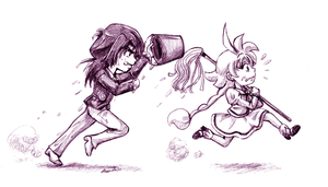 FxA Chibi - GET BACK HERE YOU- by amako-chan
