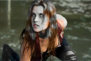 claire redfield freezing in stone by Leslie666
