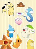 pokemon stickers batch by Lezzette