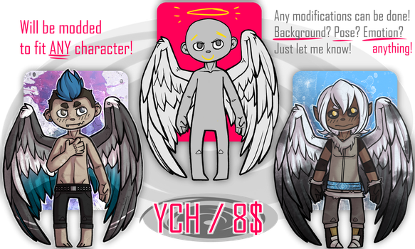 YCH Angel/Winged [OPEN] by StrayTheMushroomKid