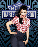 Harley Davidson Pin Up by ivankorsario