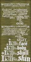 Symmetry Typographic Poster by jKendrick