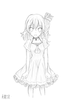 Simple Sketch for my Visual Novel - Flandre by iAozora