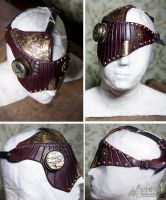 Leather Mask - Red Phantom by Aetherwerk